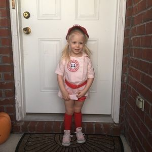 Other - Rockford Peach Baseball Costume